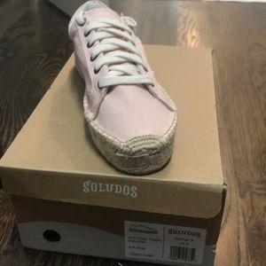 Soludos Platform canvas sneaker soft rose size 8